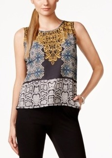 Laundry by Shelli Segal Sleeveless Printed-Front Top