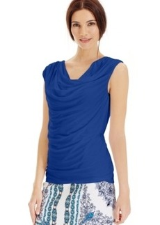 Laundry by Shelli Segal Sleeveless Ruched Blouse