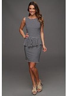 Laundry by Shelli Segal Sleeveless Stripe Peplum Dress