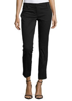 Laundry by Shelli Segal Slim-Fit Cotton-Blend Ankle Pants, Black