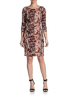 Laundry by Shelli Segal Snakeskin-Print Sheath Dress