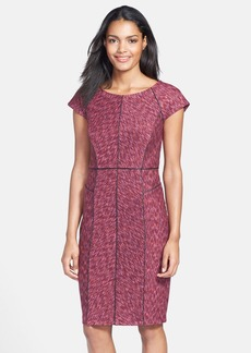 Laundry by Shelli Segal Space Dye Ponte Sheath Dress