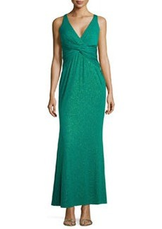 Laundry by Shelli Segal Sparkle Twist Jersey Gown, Snapple