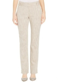 Laundry by Shelli Segal Straight-Leg Linen-Blend Pants