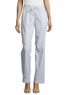 Laundry by Shelli Segal Straight-Leg Stripe Pants