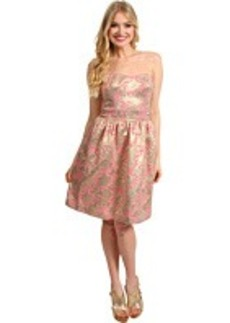 Laundry by Shelli Segal Strapless Brocade Dress