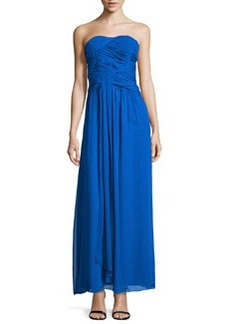 Laundry by Shelli Segal Strapless Double-Twist Pleated Chiffon Gown, Duchess Blue