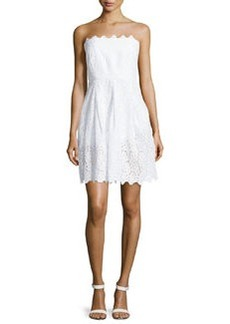 Laundry by Shelli Segal Strapless Eyelet Dress, Optic White