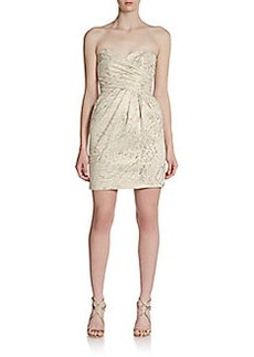 Laundry by Shelli Segal Strapless Jacquard Dress