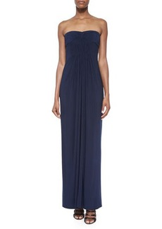 Laundry by Shelli Segal Strapless Pleated-Front Gown, Dark Midnight