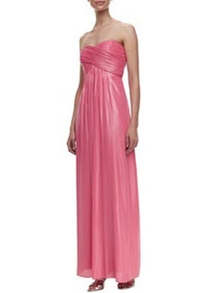 Laundry by Shelli Segal Strapless Ruched Crisscross Gown, Shell Pink