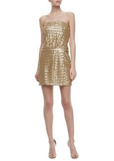 Laundry by Shelli Segal Strapless Sequin Dress, Gold