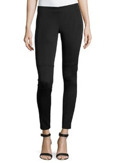 Laundry by Shelli Segal Stretch-Knit Scuba Leggings, Black