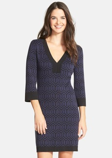 Laundry by Shelli Segal Stretch Sweater Dress