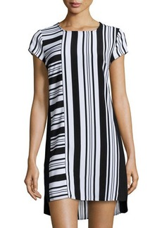 Laundry by Shelli Segal Striped Cap-Sleeve Shift Dress