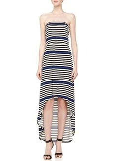 Laundry by Shelli Segal Striped Strapless Maxi Dress, Blue Beret