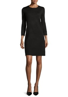Laundry by Shelli Segal Sweaterdress with Faux-Leather Yoke