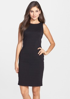 Laundry by Shelli Segal Textured Ponte Sheath Dress