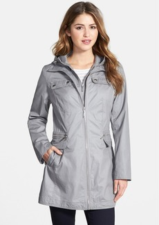 Laundry by Shelli Segal Tie Back Coat with Hooded Bib Insert