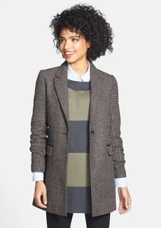Laundry by Shelli Segal Tweed Single Breasted Reefer Coat