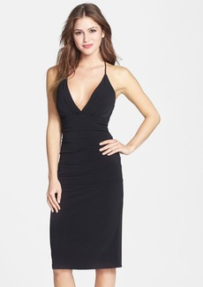 Laundry by Shelli Segal Twist Back Halter Dress
