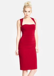 Laundry by Shelli Segal Twist Back Jersey Body-Con Dress
