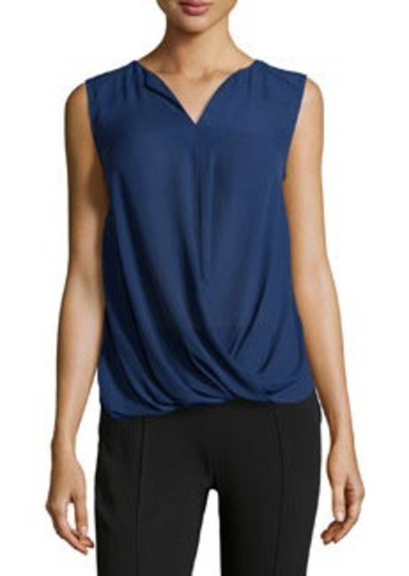 Laundry by Shelli Segal Twist-Waist Draped Top, Midnight