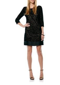 LAUNDRY BY SHELLI SEGAL Velvet Burnout Shift Dress