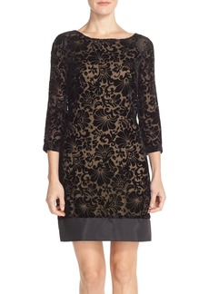 Laundry by Shelli Segal Velvet Burnout Shift Dress