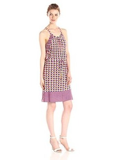 laundry BY SHELLI SEGAL Women's Art Deco Dots Jersey Blouson Dress