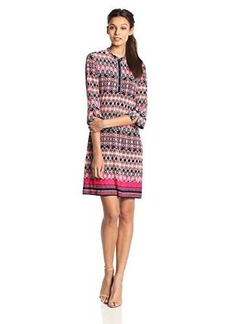 laundry BY SHELLI SEGAL Women's Banded Collar Dress