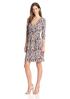 laundry BY SHELLI SEGAL Women's Block Party Faux Wrap Dress