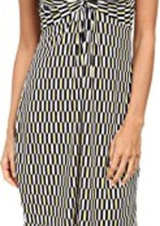 laundry BY SHELLI SEGAL Women's Cap Sleeve Printed Dress with Front Twist, Snap Dragon Multi, 2