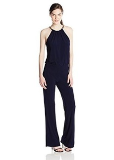 laundry BY SHELLI SEGAL Women's Chain Neck Blouson Jumpsuit