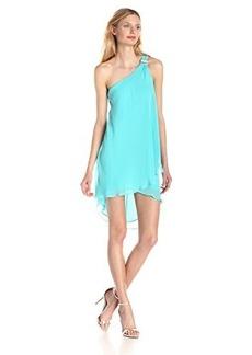 laundry BY SHELLI SEGAL Women's Draped-Chiffon Cocktail Dress