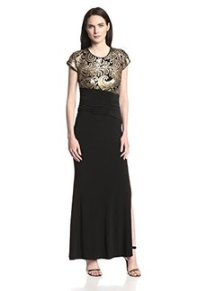 laundry BY SHELLI SEGAL Women's Embellished Bodice Maxi Dress