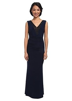 laundry BY SHELLI SEGAL Women's Embellished V-Neck Gown