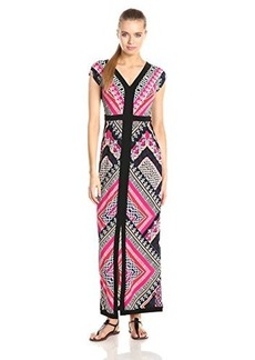 laundry BY SHELLI SEGAL Women's Fiona Placement Maxi Dress