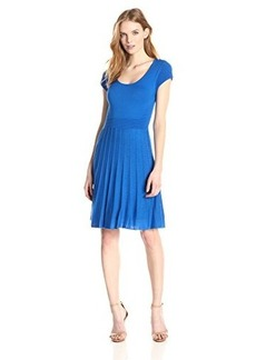 laundry BY SHELLI SEGAL Women's Fit and Flare Sweater Dress