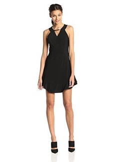 laundry BY SHELLI SEGAL Women's Halter Cocktail Dress with Metal Trim, Black, 14