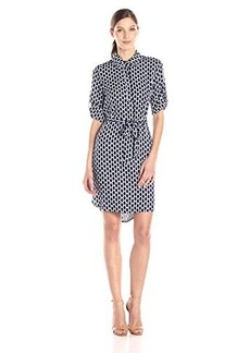 laundry BY SHELLI SEGAL Women's Honey Bee Shirt Dress, Inkblot Multi, 2