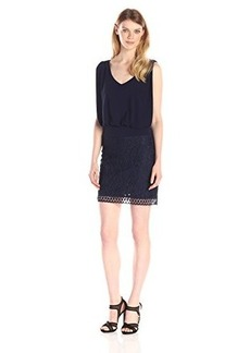 laundry BY SHELLI SEGAL Women's Jersey and Lace Blouson Dress
