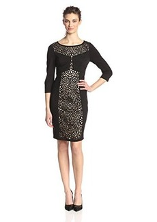 laundry BY SHELLI SEGAL Women's Laser Cut Ponte Dress
