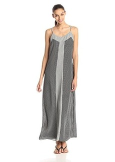 laundry BY SHELLI SEGAL Women's Mixed Print Maxi Dress, Black Multi, 12