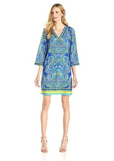 laundry BY SHELLI SEGAL Women's Paisley Tunic Dress