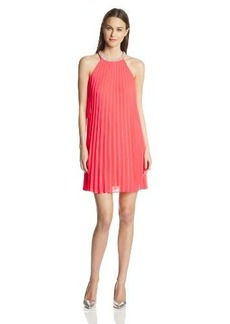 laundry BY SHELLI SEGAL Women's Pleated Trapeze Dress
