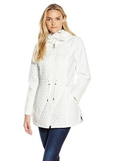 Laundry By Shelli Segal Women's Quilted Anorak, Cloud, X-Small