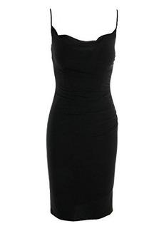 laundry BY SHELLI SEGAL Women's Skinny Strap Side Shirred Tank Dress, Black, 6