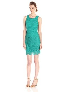 laundry BY SHELLI SEGAL Women's Susannah Stretch Lace Sleeveless Dress, Dynasty Green, 8