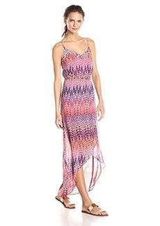 laundry BY SHELLI SEGAL Women's Tulip Hem Maxi Dress, Hibiscus Multi, 8
